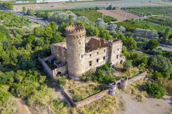 medieval castle in santa coloma de