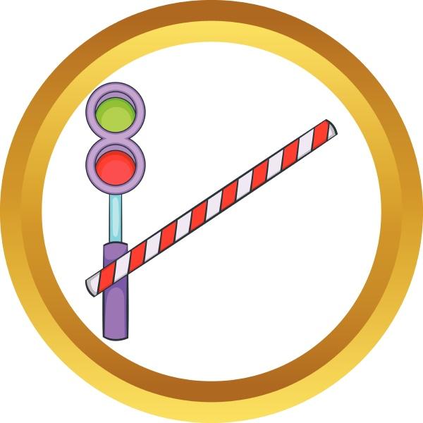 train barrier vector icon