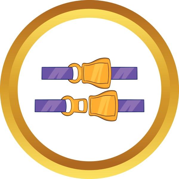 aviation seat belt vector icon