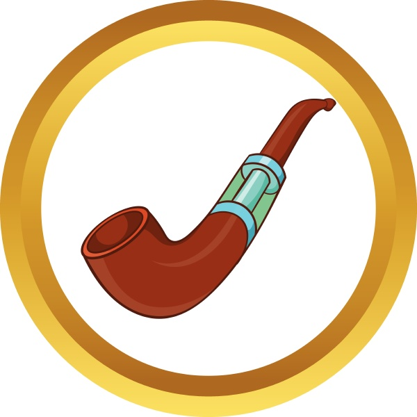 electronic smoking pipe vector icon
