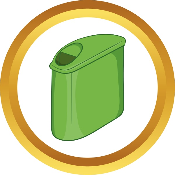 trash can with lid vector icon