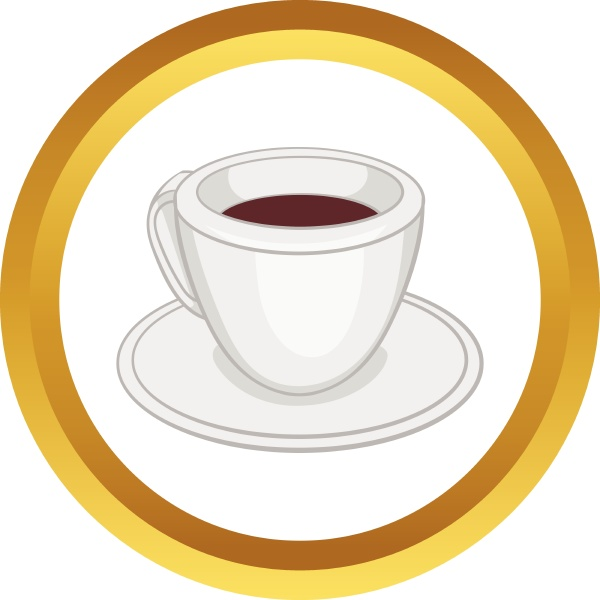 white, cup, of, coffee, vector, icon - 30143910