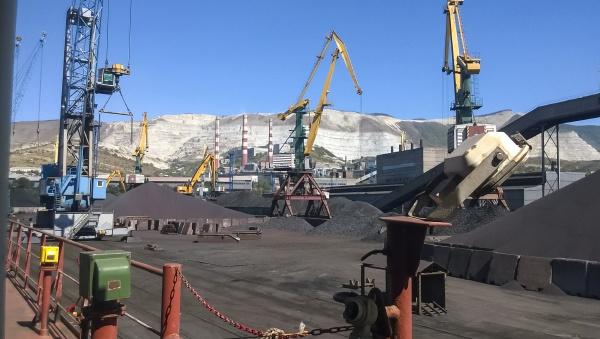 cargo industrial port port cranes