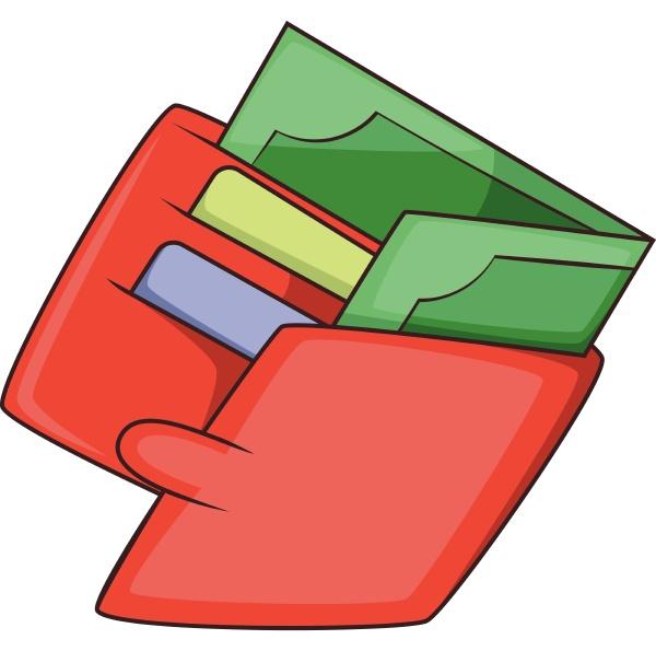 money wallet icon cartoon style