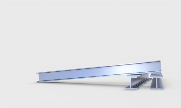steel joists on a white background