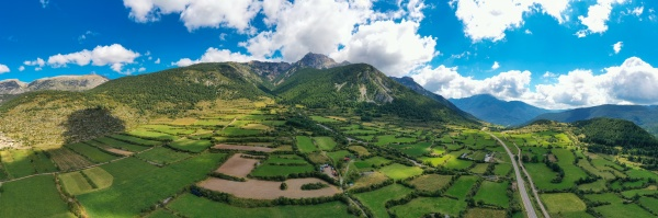 panoramic view of pedraforca a