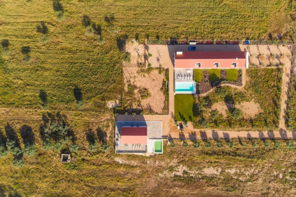 aerial view of private residence with