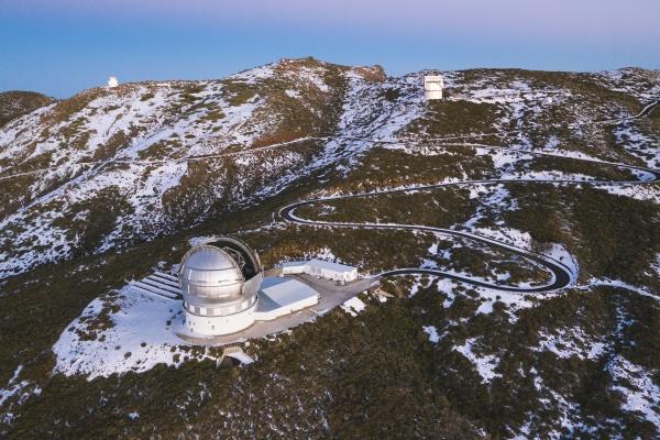 aerial view of gran telescopio canarias