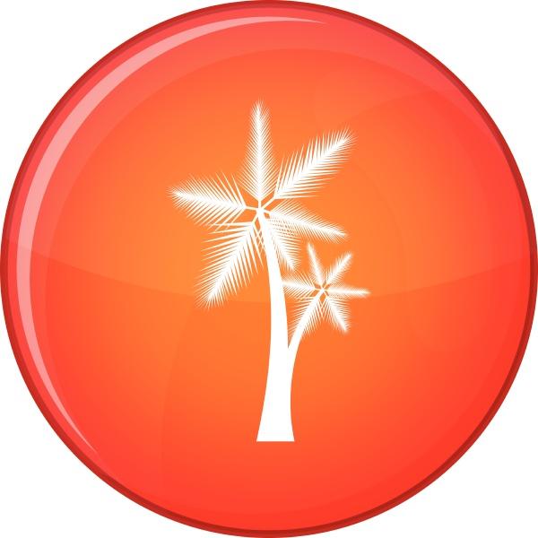 high palm tree icon flat style