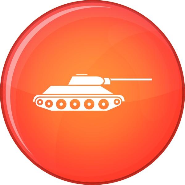 tank icon flat style