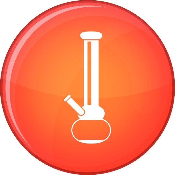 bong for smoking marijuana icon flat