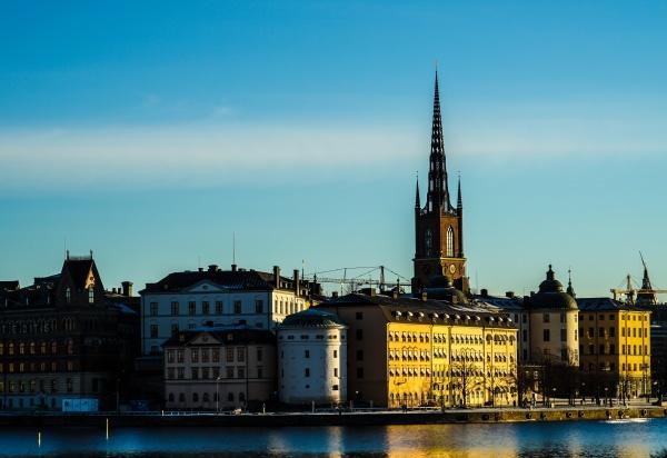 stockholm city and sunrise