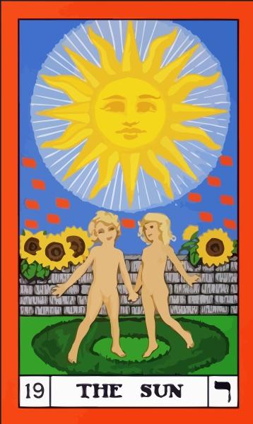 tarot fortune telling card illustration