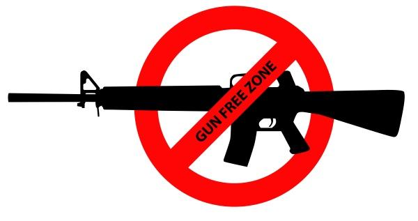 gun control warning sign