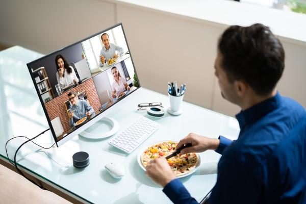 virtual office lunch break