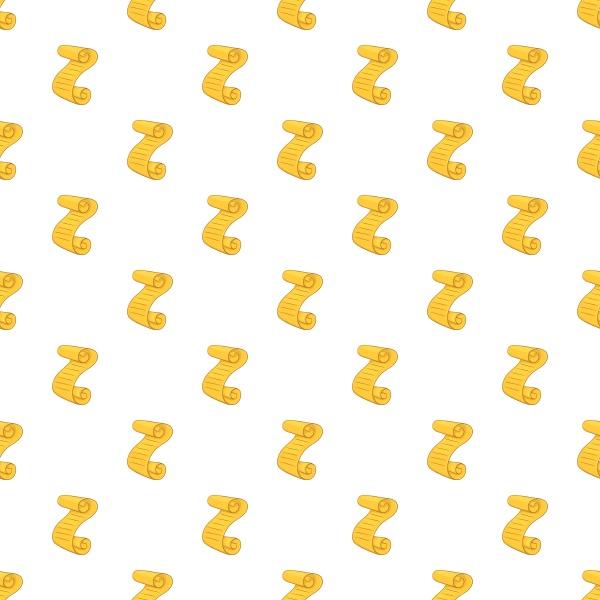 scroll paper pattern cartoon style