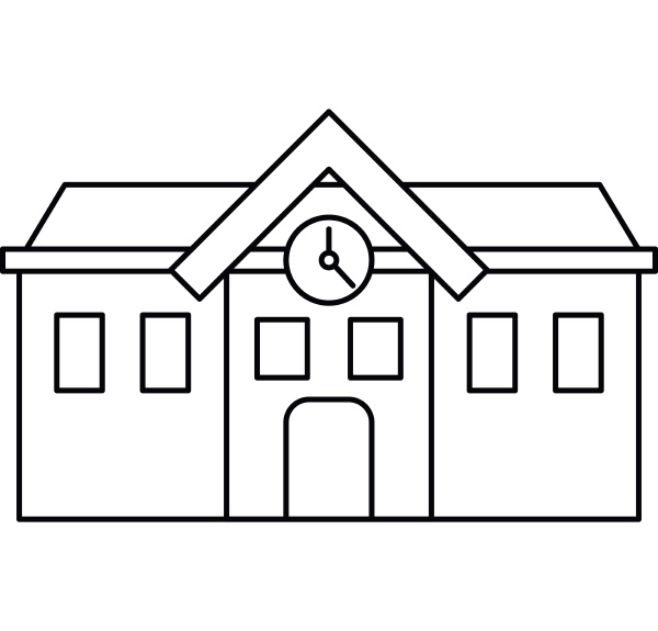 chapel icon outline style
