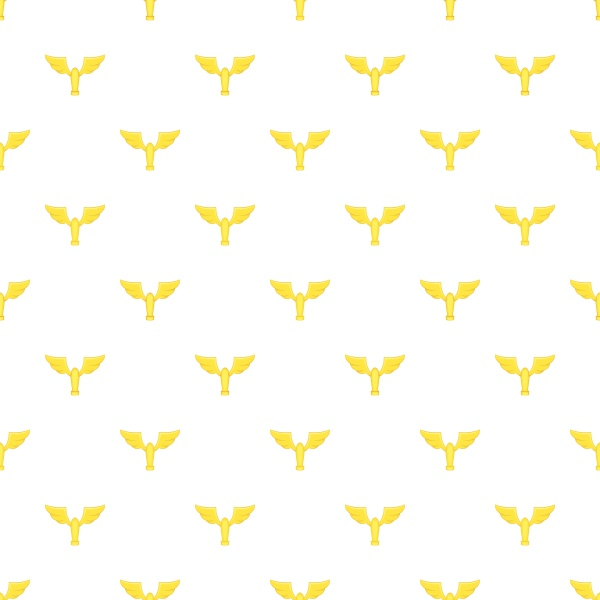 gold cup with wings pattern cartoon