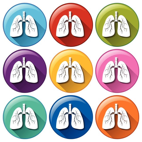 buttons with lung organ