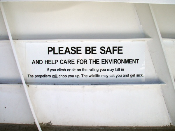 nature conservation and nature protection sign