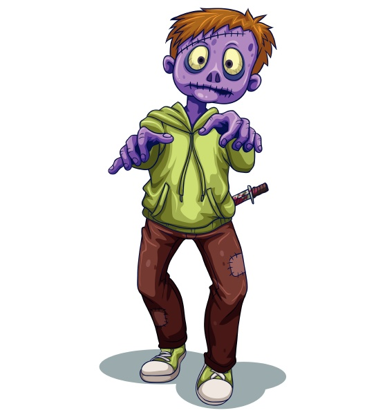 a scary zombie with a knife