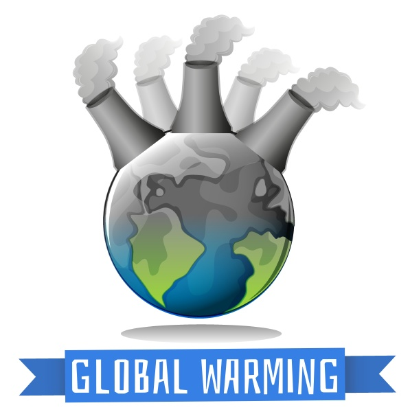 global warming theme with earth and