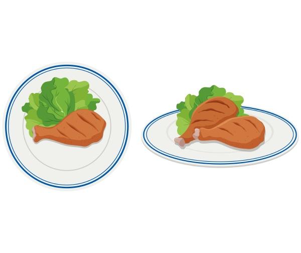 chicken drumsticks on two plates