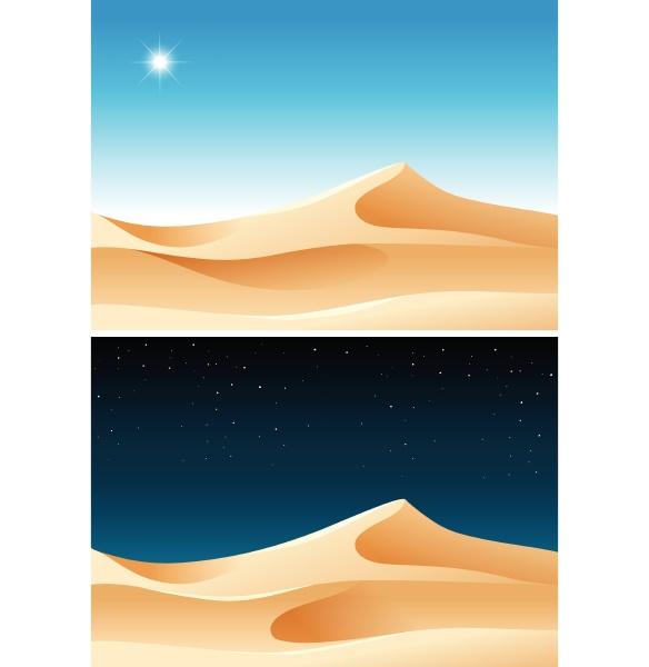 day and night desert scene
