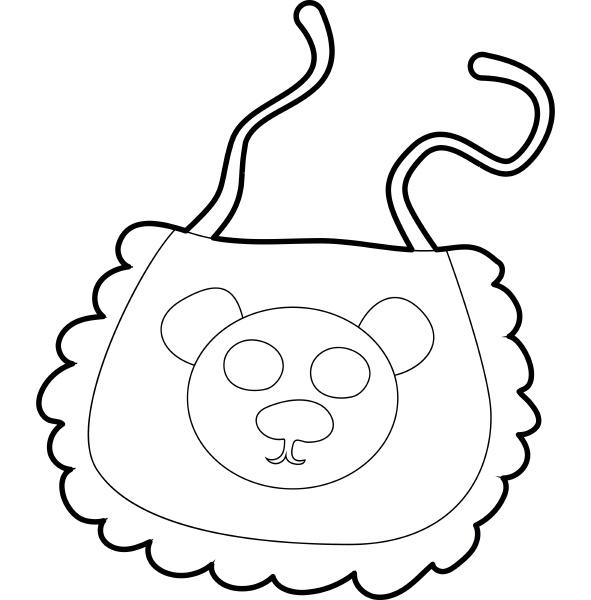 baby bib icon isometric 3d