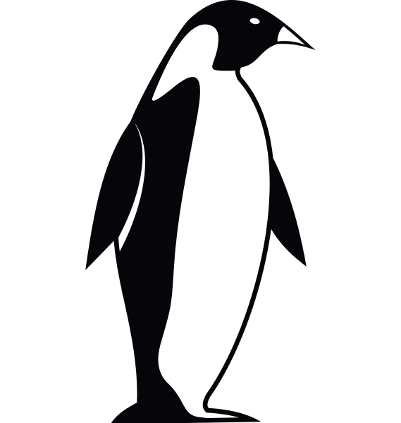 king penguin icon simple style