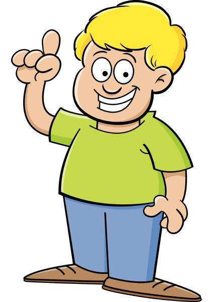 cartoon illustration of a boy with