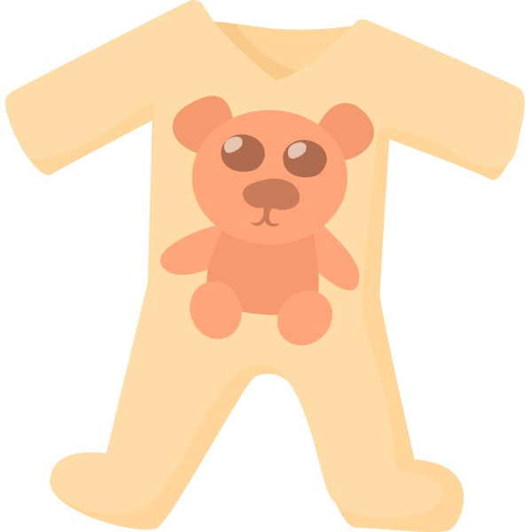 baby rompers icon cartoon style