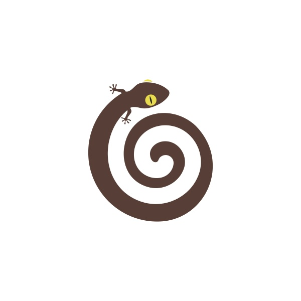 gecko logo vector icon illustration