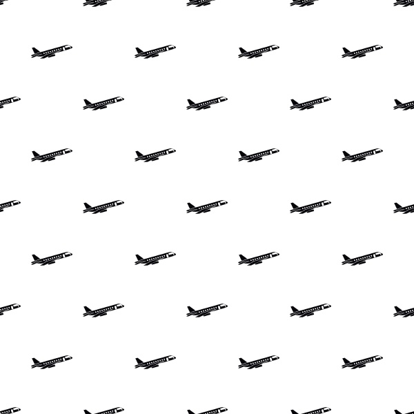 passenger airliner pattern simple style