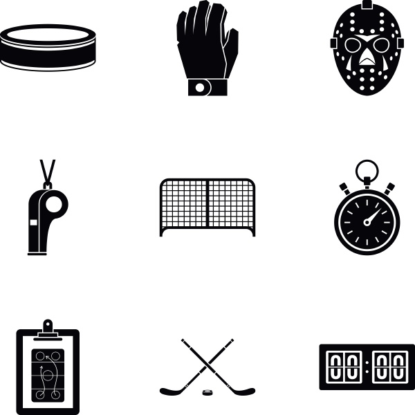 ice fight icons set simple