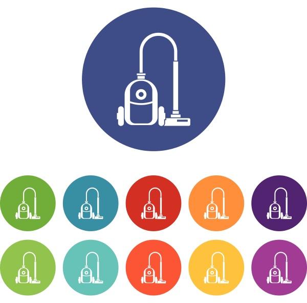 vacuum cleaner set icons
