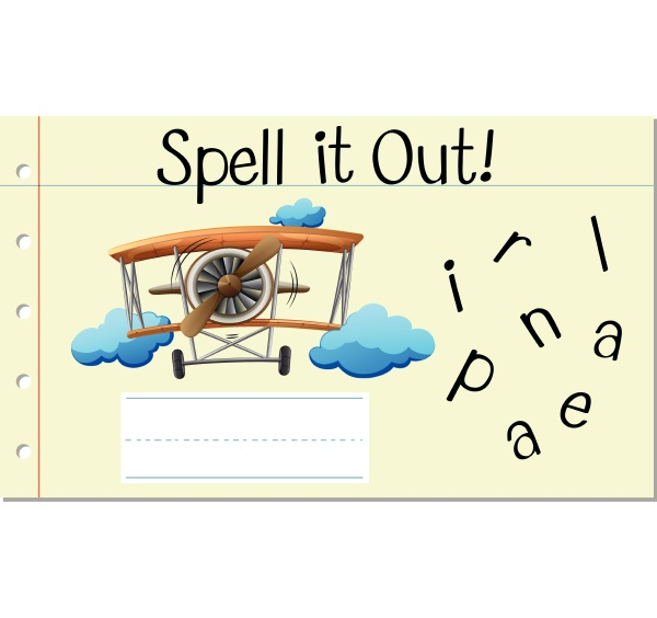 spell english word airplane