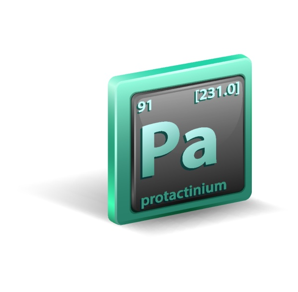 protactinium chemical element chemical symbol with