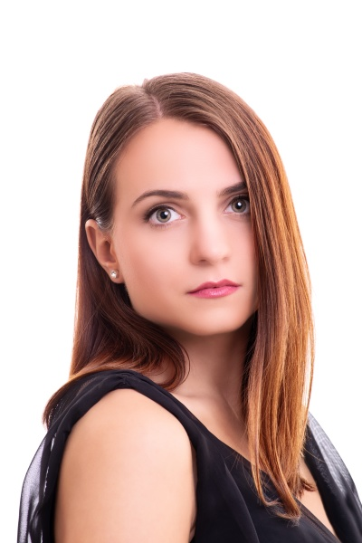 portrait of beautiful young woman looking