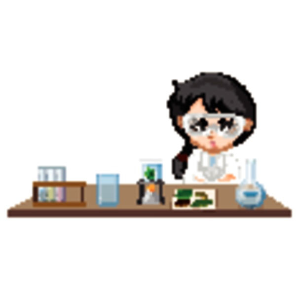 classroom scene with science student doing