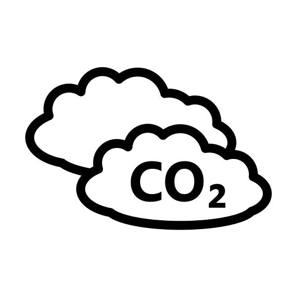 co 2 cloud icon