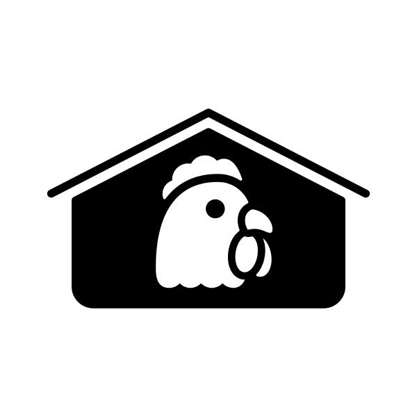 chicken house vector glyph icon farm