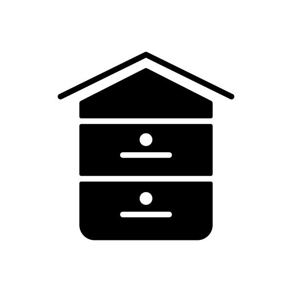 beehive vector glyph icon farm animal