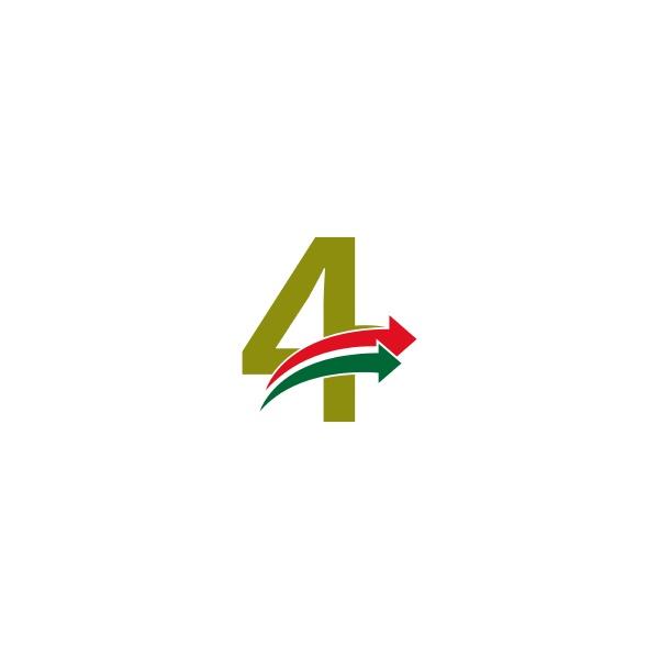 doubel arrow in front number 4