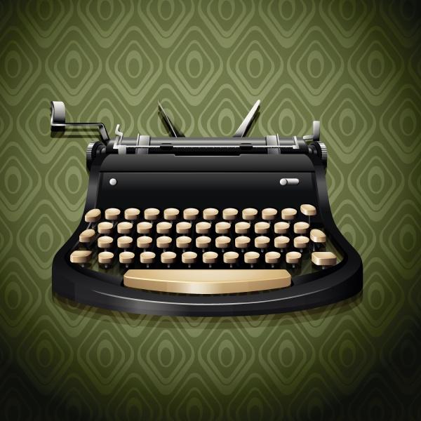 vintage design of typewriter