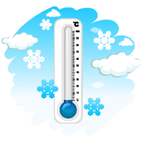 thermometer and cold winter