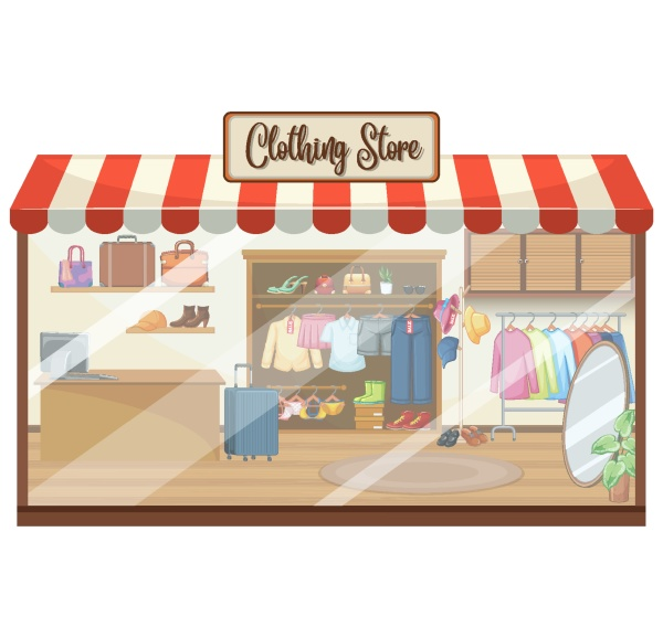 fashion clothes store background