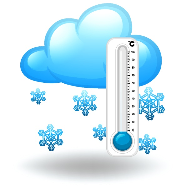 thermometer in winter season
