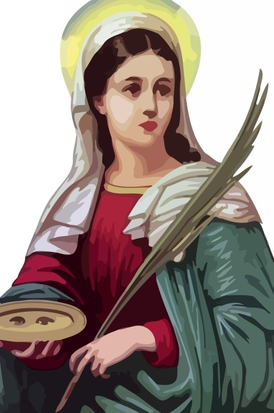 saint luzia immaculate virgin holy mother