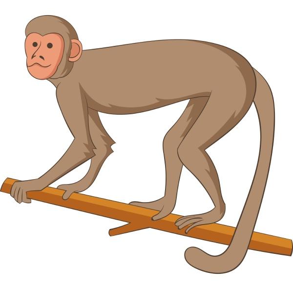 macaque icon cartoon style